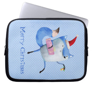 Christmas Polar Fox Laptop Computer Sleeves