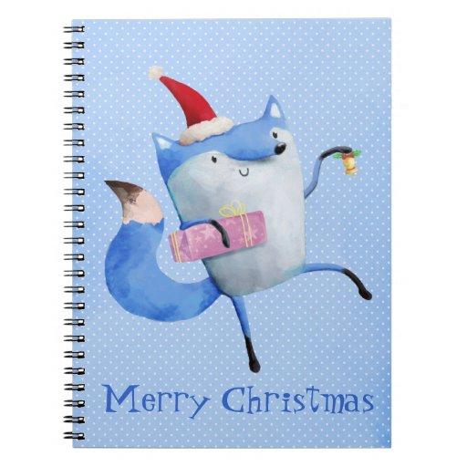Christmas Polar Fox Spiral Notebook
