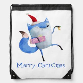 Christmas Polar Fox Cinch Bags