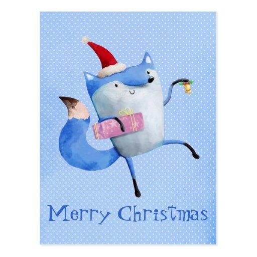 Christmas Polar Fox Post Cards