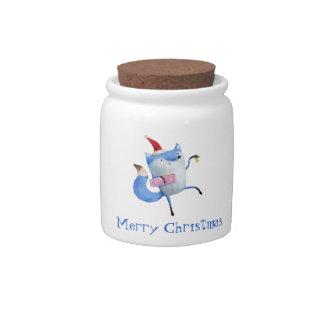 Christmas Polar Fox Candy Dishes