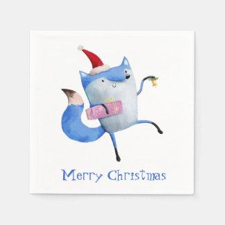 Christmas Polar Fox Disposable Napkin