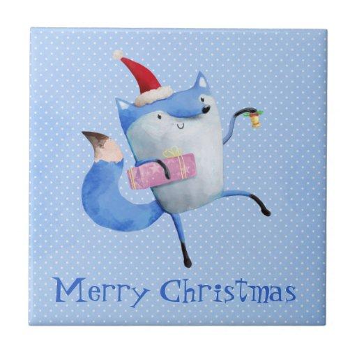 Christmas Polar Fox Tiles