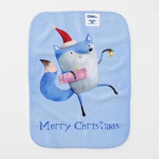Christmas Polar Fox Burp Cloths