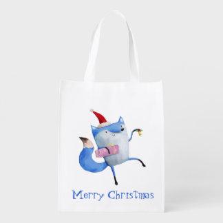 Christmas Polar Fox Market Totes