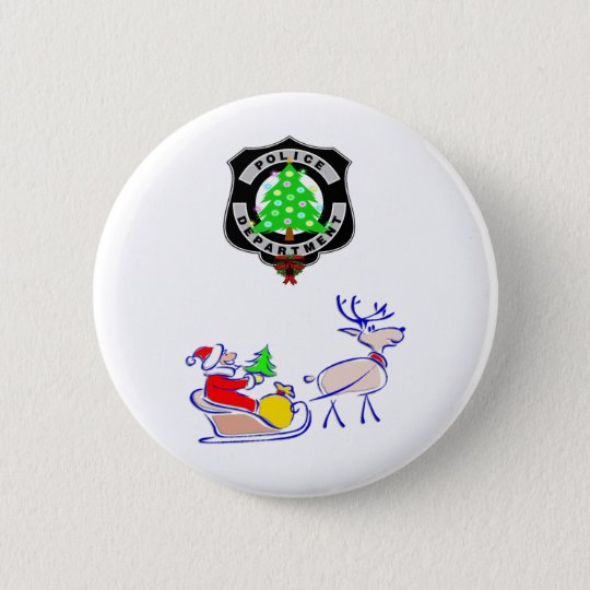 Christmas Police Gifts 6 Cm Round Badge