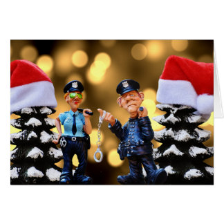 Christmas Police Officers Holiday Greeting Card
