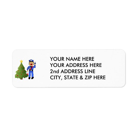 Christmas Policemen Return Address Label