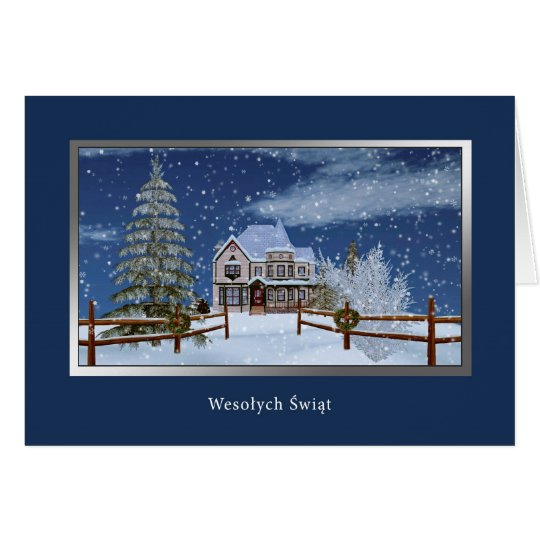 Christmas, Polish, Wesołych Świąt Card