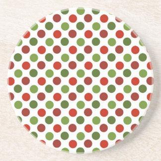 Christmas Polka Dots Coasters