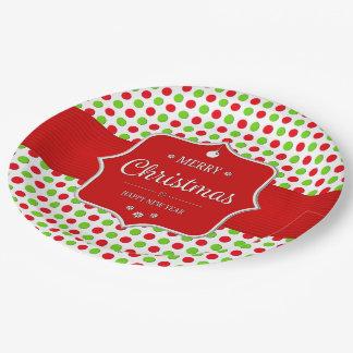 Christmas Polka Dots Paper Plates