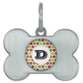 Christmas Polka Dots Pet Tag