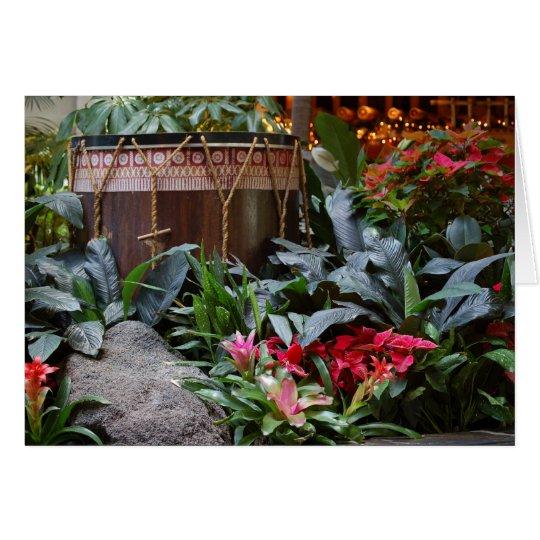 Christmas Polynesian Drum Card