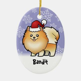 Christmas Pomeranian (add your pets name) Christmas Ornament