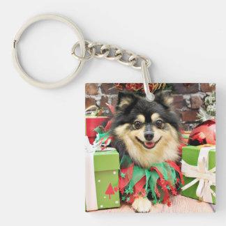 Christmas - Pomeranian - Bella Square Acrylic Key Chains