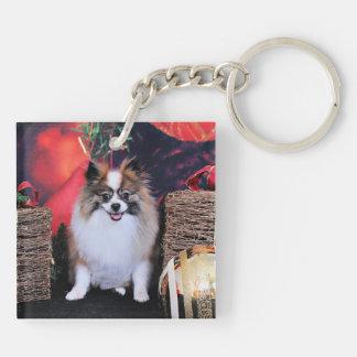 Christmas - Pomeranian - Bella Square Acrylic Keychains