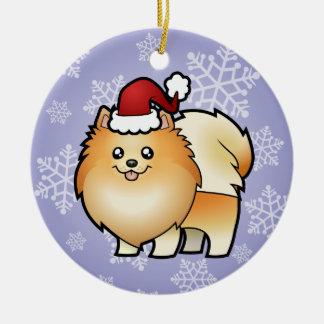 Christmas Pomeranian Christmas Ornament