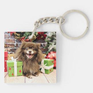 Christmas - Pomeranian - Fred Keychain