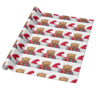 Christmas Pomeranian puppy Wrapping Paper