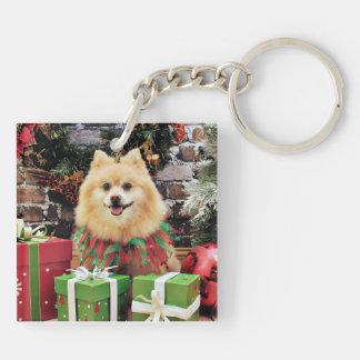 Christmas - Pomeranian - Sammy Acrylic Keychains