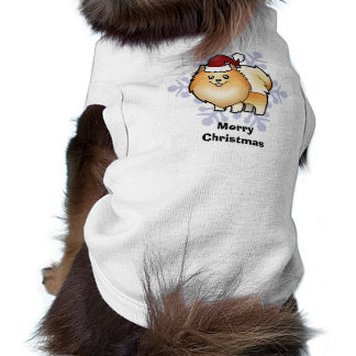 Christmas Pomeranian Sleeveless Dog Shirt