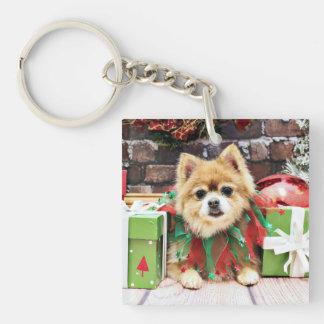 Christmas - Pomeranian - Sophie Square Acrylic Keychain