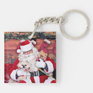 Christmas - Pomeranian - Toby & Andy Acrylic Keychains