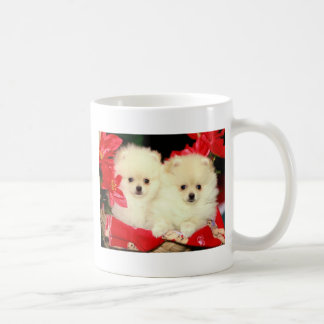 Christmas Pomeranians Coffee Mug