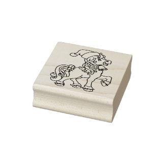 Christmas Pony Christmas Rubber Stamp