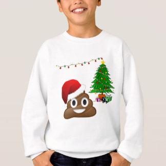 christmas poo emoji sweatshirt