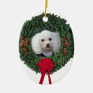 Christmas poodle christmas ornament