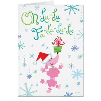 Christmas Poodle Greeting Card