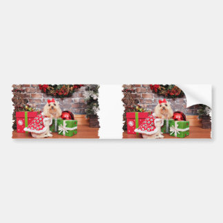 Christmas - Poodle - Lulu Bumper Stickers