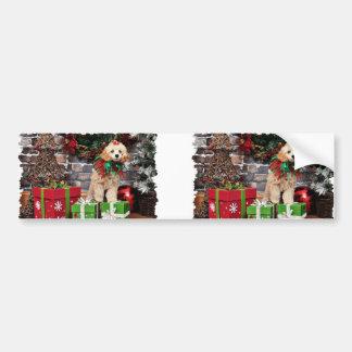 Christmas - Poodle - Patronaglo Bumper Stickers