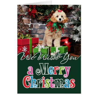 Christmas - Poodle - Patronaglo Card