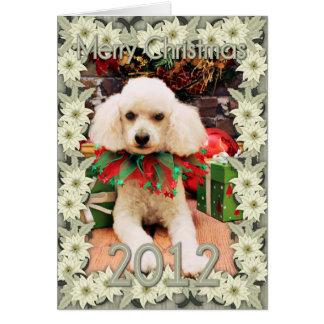 Christmas - Poodle - Riley Greeting Card
