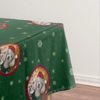 Christmas poodle  table cloth