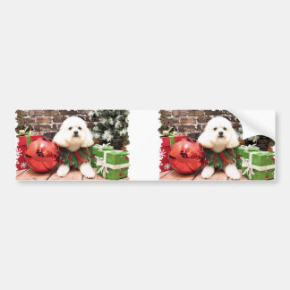 Christmas - Poodle - Tanner Bumper Stickers