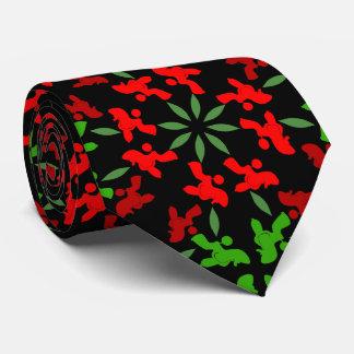 Christmas Poodles Tie