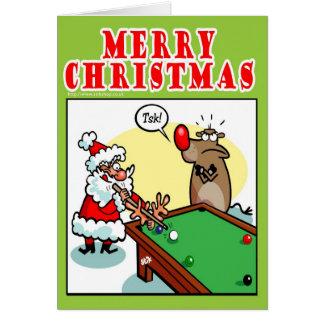 Christmas Pool Greeting Card