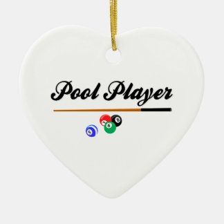 Christmas Pool Player Christmas Ornament