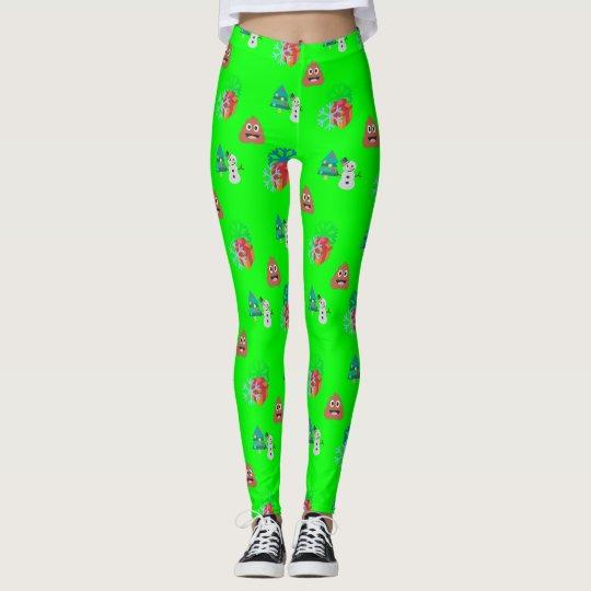 christmas poop emoji xmas leggings