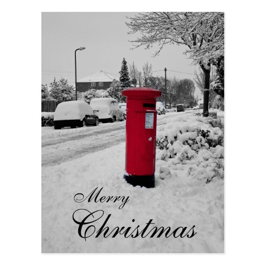 Christmas Post box Postcard