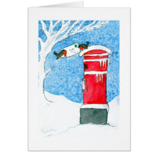 Christmas Post Greeting Card