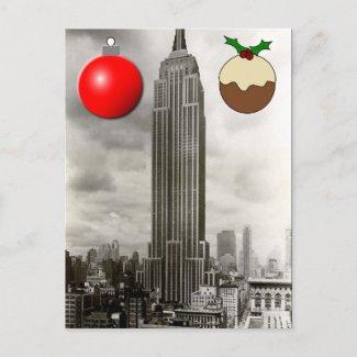 Christmas Postcard - New York City