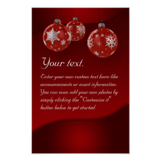 Christmas poster with ornaments
