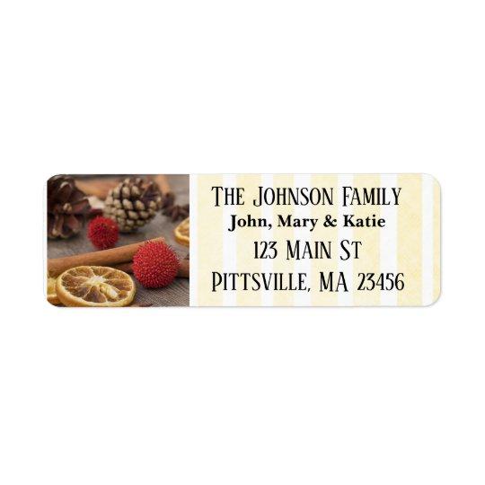 Christmas Potpourri Return Address Labels