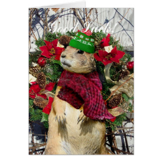Christmas  Prairie Dog Card
