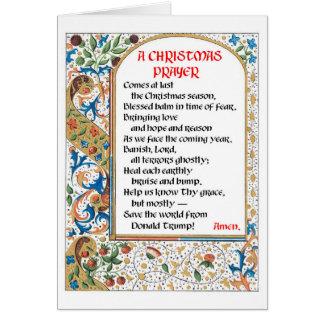 Christmas Prayer (Donald Trump) Card #1