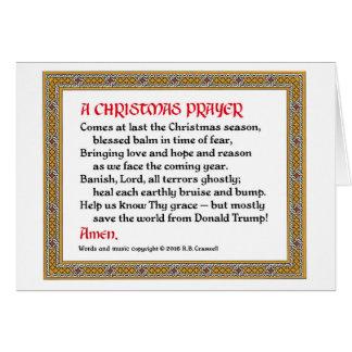 Christmas Prayer (Donald Trump) Card #2